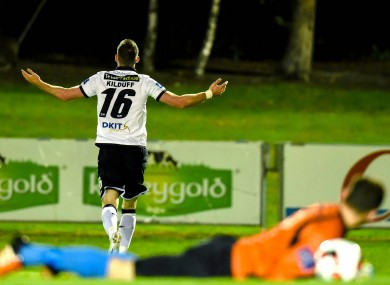 Ciaran Kilduff scored the game's only goal as Dundalk beat UCD in the quarter-finals.