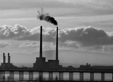 File photo of ESB Poolbeg generating station in Dublin, with the Bull Wall Bridge in the foreground.