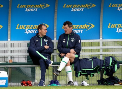 Rogers chats to Roy Keane in Abbottstown.