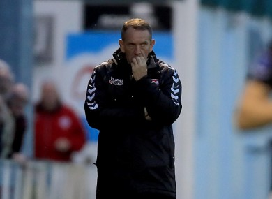 Kenny Shiels will be left scratching his head after tonight's game.