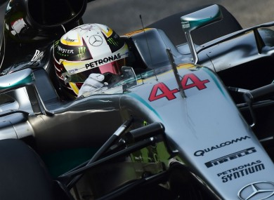 Mercedes' Lewis Hamilton qualifying for the Italian Grand Prix.