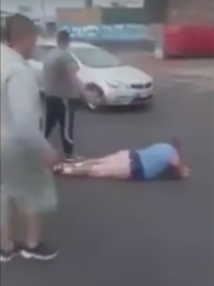 Screenshot from the video of the incident.