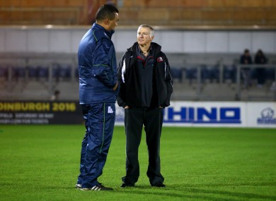 Alan Solomons won't be in the opposite dugout to Pat Lam on Friday.