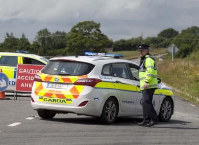 Garda diversion after road crash in Laois. (File photo)