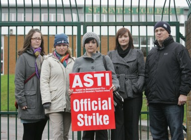 File photo of striking workers in 2009.