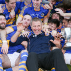Maghery players celebrate being crowned Armagh Champions 2016.<span class=