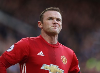 Manchester United's Wayne Rooney during the Premier League match at Old Trafford.