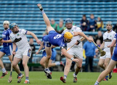 Padraic Maher takes a tumble during this afternoon's game.