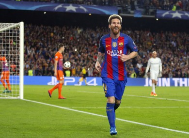 Just the three goals for Leo Messi tonight.