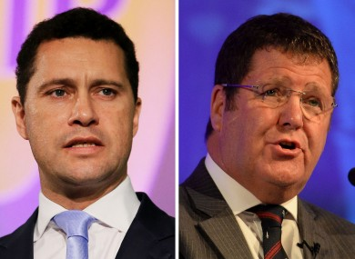 Steven Woolfe (left) and Mike Hookem were involved in the row,