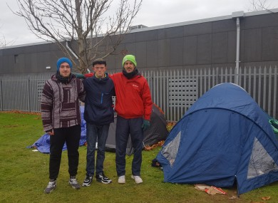 Some of the men staying at the south Dublin green area