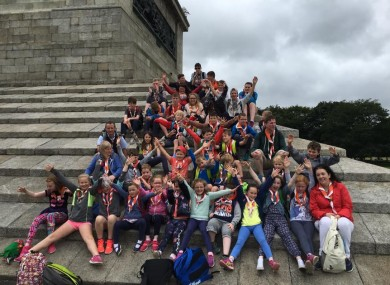 Kilsheelan Scouts Group, one of last year's winners, on their trip.