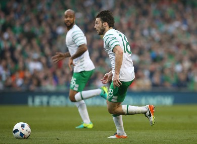 Republic of Ireland's Harry Arter during the International Friendly at the Aviva Stadium.