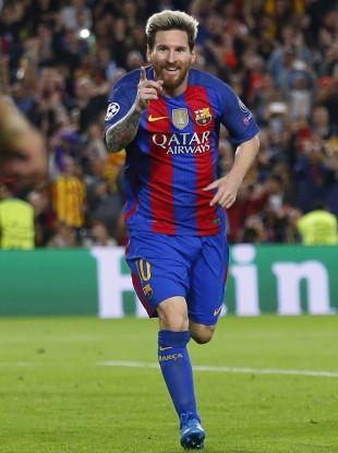 Messi: Barcelona's jerseys will have Rakuten's logo from the start of the 2017 season.