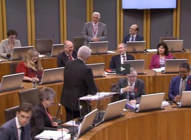 Ukip assembly member David Rowlands asks First Minister Carwyn Jones.
