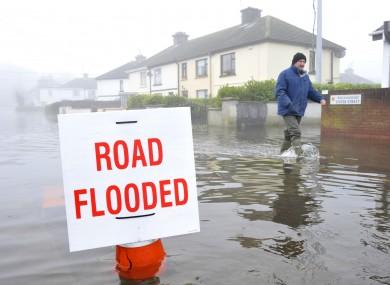 Flood scenes in Athlone, 2009.