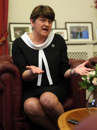 DUP leader and First Minister Arlene Foster insists she will not resign over the £400 million scandal.