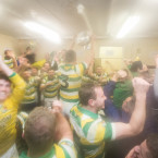 Dressing-room mania as Carbery Rangers players are senior kingpins for the first time.<span class=