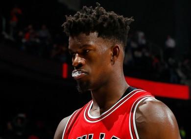 Chicago Bulls star Jimmy Butler.