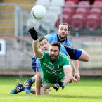 Bodies collide in the clash of Cargin and Killyclogher.<span class=