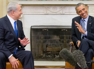 Israeli prime minister Benjamin Netanyahu and US president Barack Obama a year ago.