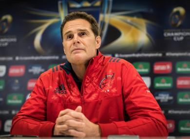 Munster director of rugby Rassie Erasmus.