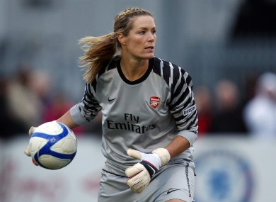 Irish goalkeeper Emma Byrne leaves Arsenal after 17 years · The42 23a908d5dd
