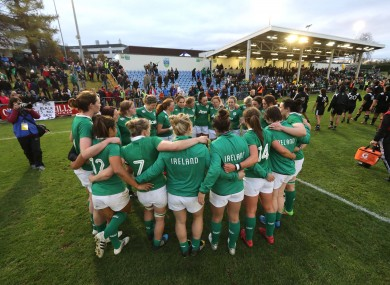 Ireland's Women's Rugby team: profile has grown in recent years.