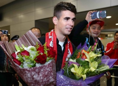 Oscar on his arrival in China.