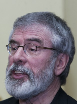 Gerry Adams speaking at the Teacher's Club in Dublin today ahead of the party's think-in.