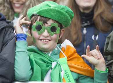 Richard O Neill (10) from Kildare on St Patrick's Day in 2015.