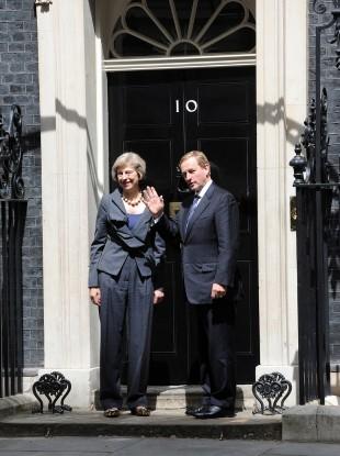 UK Prime Minister Theresa May and Taoiseach Enda Kenny.