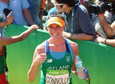 Breege Connolly finished 76th in marathon at the 2016 Rio Olympics.