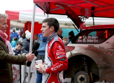 Craig Breen pictured during the 2016 Circuit of Ireland Rally.