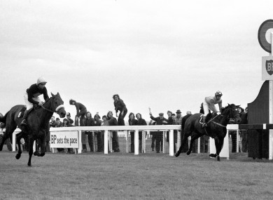 Fletcher and Red Rum (left) pip Crisp to the post at the 1973 Aintree Grand National.