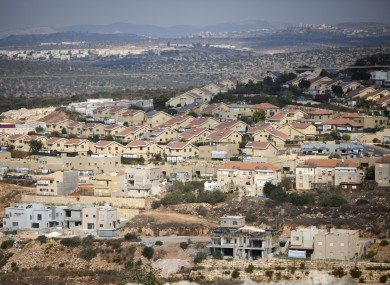 A general view of housing in the Israeli settlement of Revava, near the West Bank city of Nablus.