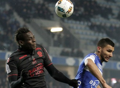 Mario Balotelli in action for Nice against Bastia