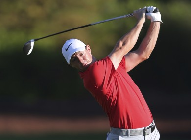 McIlroy opened his season in South Africa this morning.