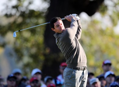 Rory McIlroy is currently three shots off the lead.