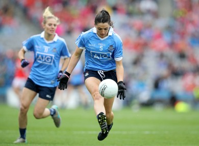 Sinéad Goldrick in action for Dublin during the 2016 All-Ireland final.