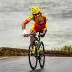 Juan José Mendez Fernandez, of Spain, competes during the Men's Road Race during the Rio 2016 Paralympic Games, in Rio de Janeiro, Brazil<span class=