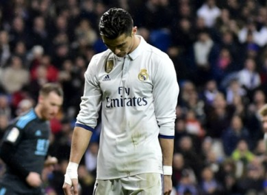 Cristiano Ronaldo has been whistled by a section of the Real Madrid support recently.