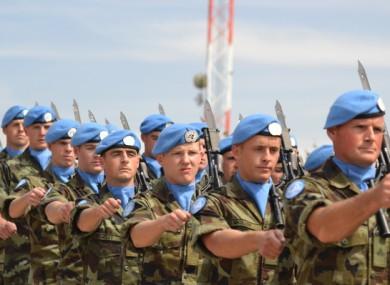 File photo: Irish peacekeepers in Lebanon