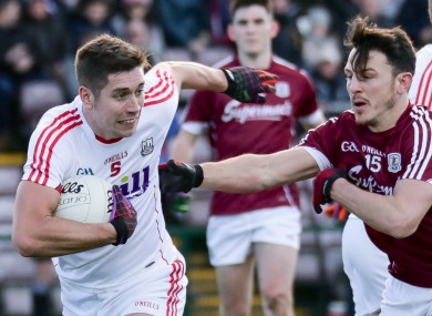 Cork's Conor Dorman and Galway's Séan Armstrong
