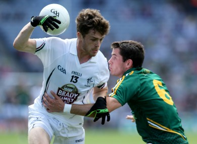 Two goals for Kildare's Niall Kelly against Meath today - (file photo).