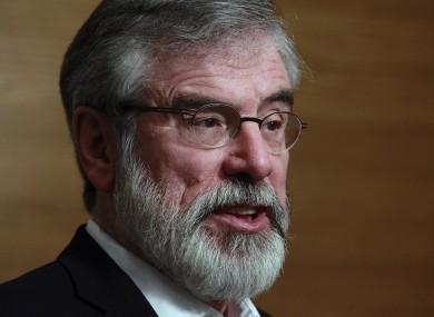 Sinn Féin leader Gerry Adams.