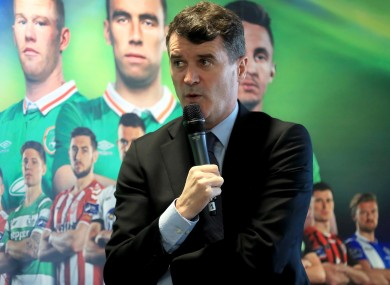 Keane was speaking at the launch of the SSE Airtricity League this afternoon.