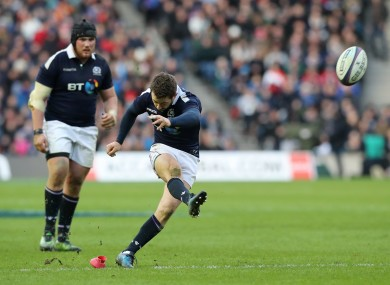 Laidlaw will miss Scotland's remaining three games.