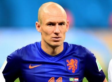 Arjen Robben (file pic).