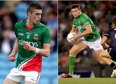 Mayo brothers Cian (left) and Pearce Hanley.